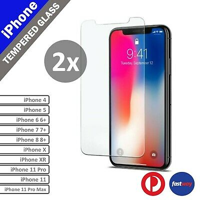 2X Scratch Resist Tempered Glass Screen Protector film for iphone 8 6 6S Plus 5S