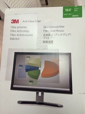 3M AG19.0 Anti-Glare Filter for Widescreen Desktop LCD Monitor 19""