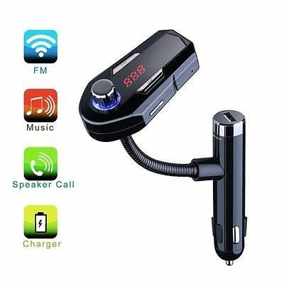 Bluetooth Car Kit Dual USB Charger Fm Transmitter for iPhone 7 6 6s Plus 5 iPod