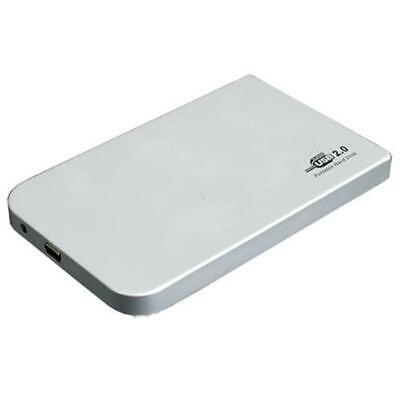External 2.5 Inch Hard Drive Case Enclosure IDE HDD SSD USB 2.0 Silver