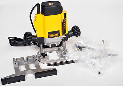 "*NEW* DeWALT DW615 1/4"" 1000W Variable Speed Plunge Router & Accessories 240V"