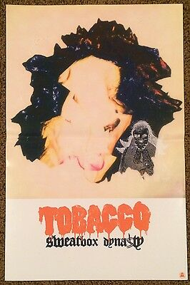 "TOBACCO 11"" X 17"" Poster for Sweatbox Dynasty LP Black Moth Super Rainbow BMSR"