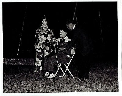 Vintage Circus Photograph - Clown Playing Saw with Bow