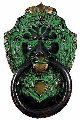 Brass Handcrafted Lion Mouth Shape Antique Vintage Replica Door Knocker Knob A1