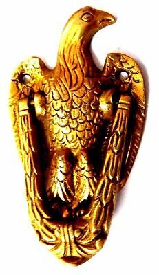 Eagle Bird Shape Brass Handcrafted Antique Vintage Replica Door Knocker Knob DN1