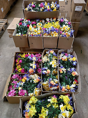 30 x Artificial Flowers Mixed Bunch Job Lot Many Types of Flowers BARGAIN Whole