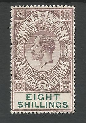 Gibraltar Sg101  The 1924  Gv Dull Purple& Green Fine Mounted Mint Cat £325