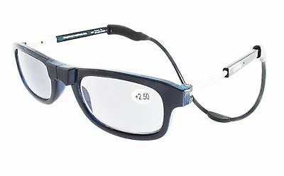Loopies Photochromic Magnetic Reading Glasses Navy Blue Perfect Xmas Gift