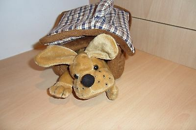 Cute Soft Toy Dog In Soft Carrying Kennel