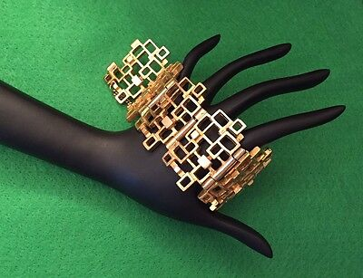 Robert Larin Modernist Gold Plated Bracelet, Signed, Near Mint Condition