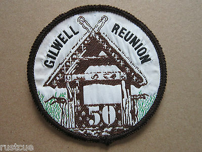 Gilwell Park Reunion 50 Woven Cloth Patch Badge Boy Scouts Scouting