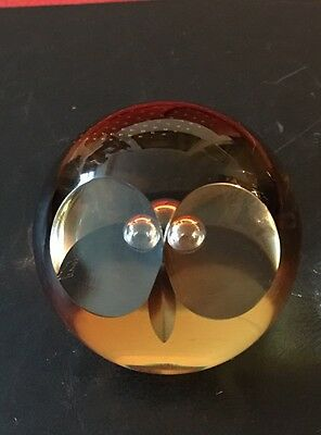 Caithness Wise Owl design glass paperweight