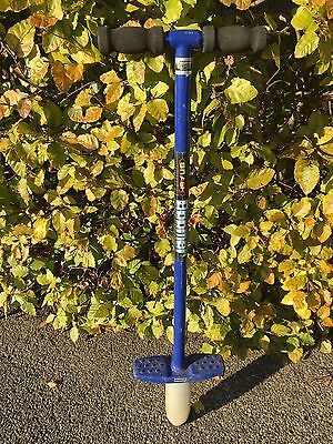Good quality traditional metal Pogo Stick - Blue - hardly used