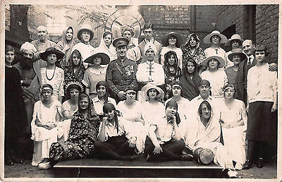1920s REAL PHOTO POSTCARD ~ CLIFTON PHILHARMONIC SOCIETY in COSTUME ~ BRISTOL