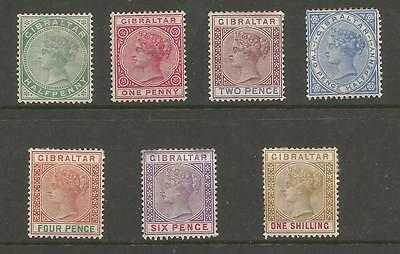 Gibraltar Sg39-45 The 1898 Qv Set Of 7 Mounted Mint Cat £180