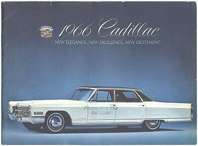 1966 Cadillac Brochure 'New Elegance..New Excellence..New Excitement'
