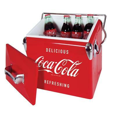 Koolatron Coca-Cola 13-Litre Capacity Vintage Ice Chest in Red, CCVIC-13 New