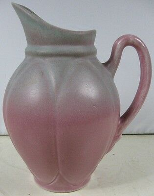 "Vintage 1940's-50's 8 1/2"" Tall Mulberry Matt Glaze Art Pottery Pitcher Niloak"