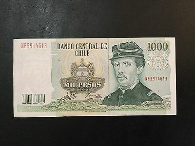 2000 Chile Paper Money - 1,000 Pesos Banknote !