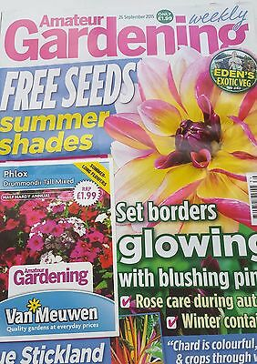 Amateur Gardening Magazine Sept 2015 with Free Phlox Seeds