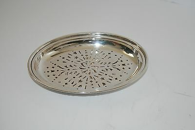 Antique Silver Asparagus Serving Tray with Strainer