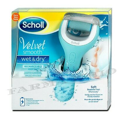 Scholl Velvet Smooth Wet And Dry - Roll Ricaricabile Per Pedicure