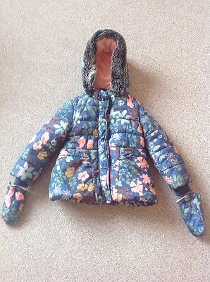 Girls Coat With Matching Gloves Age 2-3