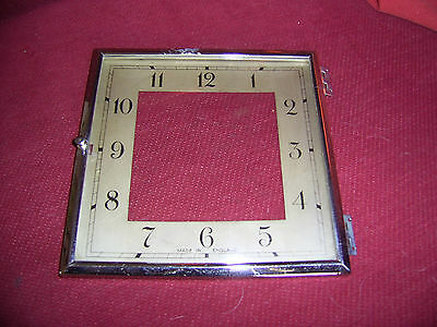 Square faced clock glass, bezel, dial. 143cm