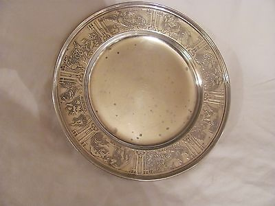 Darling Antique Sterling SIlver Baby Plate with Animals
