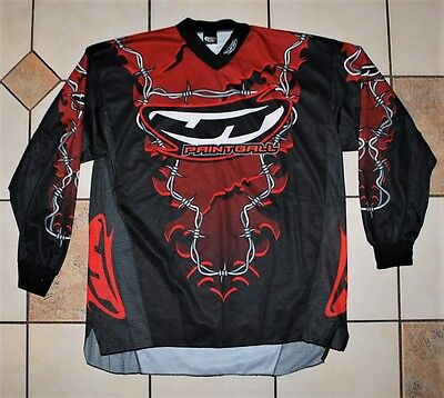 JT PAINTBALL JERSEY SHIRT BARBWIRE RED size XLarge