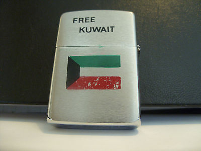 4th ARMOURED BRIGADE ( FREE KUWAIT ) ZIPPO LIGHTER 1990