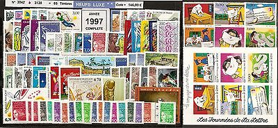 FRANCE Année COMPLETE 1997 - NEUF ** LUXE - 85 Timbres