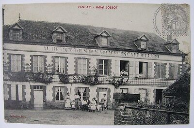 Ancienne Cpa Vanlay Hotel Jossot Animee 10