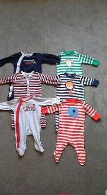 Baby boys Sleepsuits babygrows 0-3 months