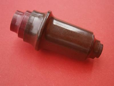 Bakelite Switch Lamp Push NOS Brown Color Brass Internal Electric Contact