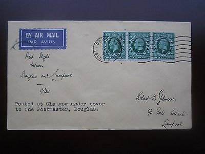 1935 GB AIRMAIL ISLE of MAN COVER