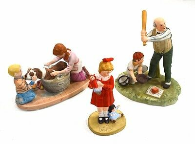 Three Norman Rockwell Inspired figurines Gorham & Museum Collections Inc.