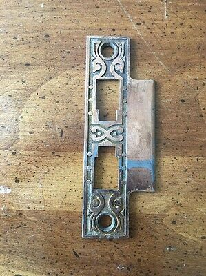 Bronze Plated Steel One Sided Strike Plate Antique Hardware Ships Free