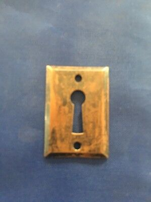 Brass Escutcheon Art Deco Authentic Antique Hardware Free Ship