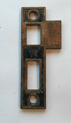 2 Sided Cast Iron Door Knob Strike Plate Victorian Antique Hardware 3 Available