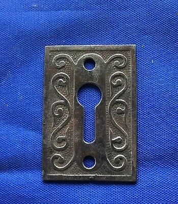 Restored Cast Iron Escutcheon Victorian Authentic Antique Hardware Ships Free