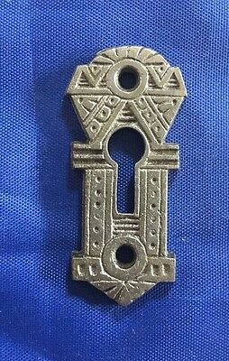 Restored Cast Iron Escutcheon Victorian Authentic Antique Hardware 6 Available