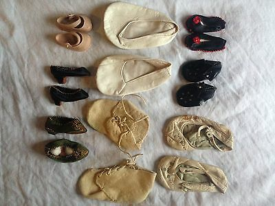 Antique baby shoes and doll shoes
