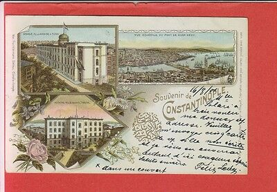 Turkey Istanbul Constantinople Litho German Institutions Multi-View Fruchtermann