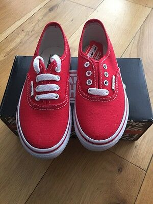 Red Vans Childrens Uk 10