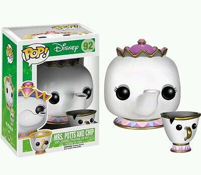 Disney Beauty and The Beast Mrs Potts and Chip Pop! Vinyl Figure by Funko