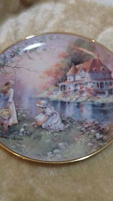 Franklin Mint collectors plates. Gathering Wildflowers