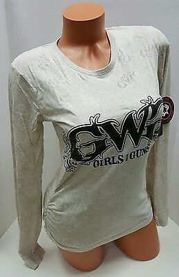 Nwt~Womens Girls With Guns Gwg Cream Burnout Tee T-Shirt Top Shirt~S~M~L~Xl