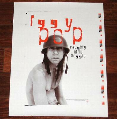 Iggy Pop Naughty Little Doggie 1996 Never Cut Printer's Proof Promo Only Poster