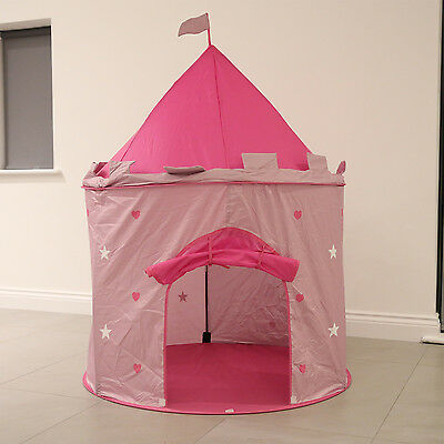 Kids Children Princess Castle Play Tent In&Outdoor Play House Girls